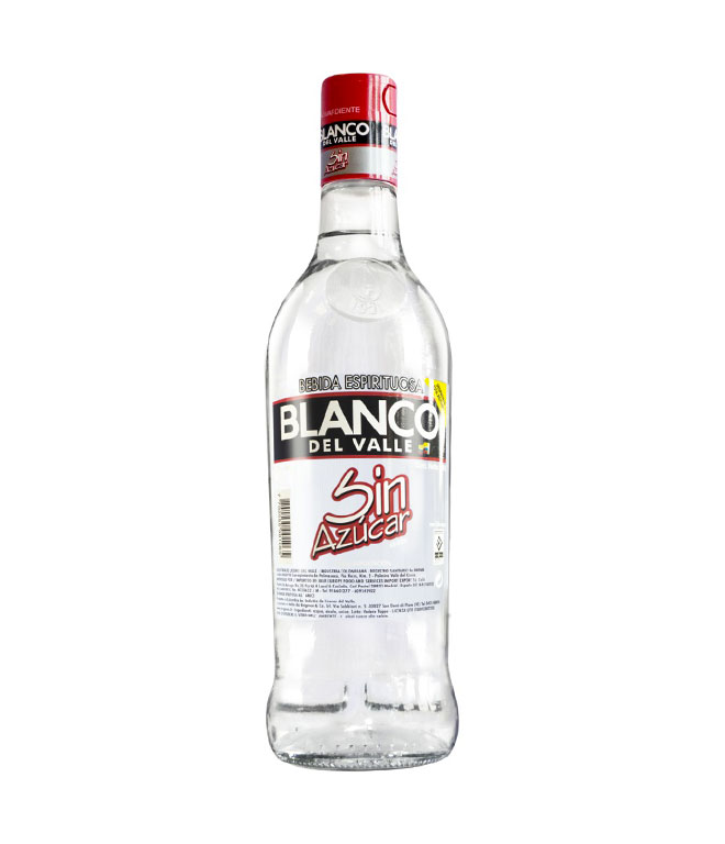Aguardiente Blanco del Valle sin azúcar 750ml